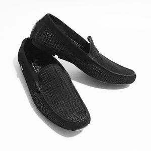 New MARIO BRUNI Suede Loafers Driving Moccasins